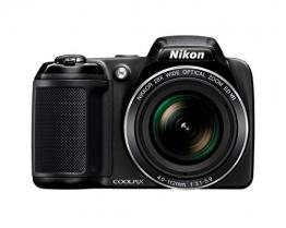 Nikon Coolpix L340 Digitalkamera (20,2 Megapixel, 28-fach opt. Zoom, 7,6 cm (3 Zoll) LCD-Display, USB 2.0, bildstabilisiert) schwarz - 1