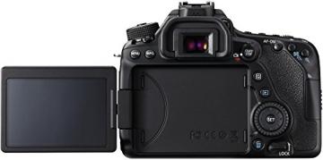 Canon EOS 80D SLR-Digitalkamera (24,2 Megapixel, 7,7 cm (3 Zoll) Display, DIGIC 6 Bildprozessor, NFC und WLAN, Full HD) Kit inkl. EF-S 18-55mm 1:3,5-5,6 IS STM, schwarz - 7
