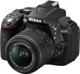 Nikon D5300 SLR-Digitalkamera (24,2 Megapixel, 8,1cm (3,2 Zoll) LCD-Display, Full HD, HDMI, WiFi, GPS, AF-System mit 39 Messfeldern) Kit inkl. AF-S DX 18-55 VR II Objektiv schwarz - 1