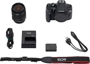 Canon EOS 1300D Digitale Spiegelreflexkamera (18 Megapixel, APS-C CMOS-Sensor, WLAN mit NFC, Full-HD) Kit inkl. EF-S 18-55mm IS Objektiv - 12