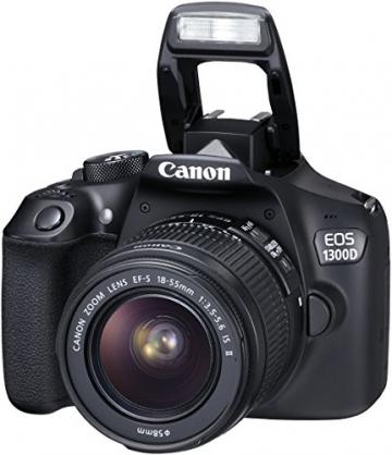 Canon EOS 1300D Digitale Spiegelreflexkamera (18 Megapixel, APS-C CMOS-Sensor, WLAN mit NFC, Full-HD) Kit inkl. EF-S 18-55mm IS Objektiv - 13