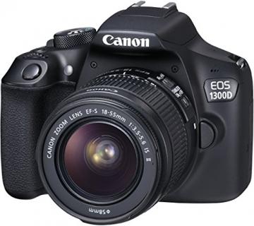Canon EOS 1300D Digitale Spiegelreflexkamera (18 Megapixel, APS-C CMOS-Sensor, WLAN mit NFC, Full-HD) Kit inkl. EF-S 18-55mm IS Objektiv - 14