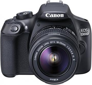 Canon EOS 1300D Digitale Spiegelreflexkamera (18 Megapixel, APS-C CMOS-Sensor, WLAN mit NFC, Full-HD) Kit inkl. EF-S 18-55mm IS Objektiv - 3