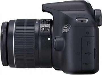 Canon EOS 1300D Digitale Spiegelreflexkamera (18 Megapixel, APS-C CMOS-Sensor, WLAN mit NFC, Full-HD) Kit inkl. EF-S 18-55mm IS Objektiv - 4
