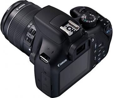 Canon EOS 1300D Digitale Spiegelreflexkamera (18 Megapixel, APS-C CMOS-Sensor, WLAN mit NFC, Full-HD) Kit inkl. EF-S 18-55mm IS Objektiv - 8