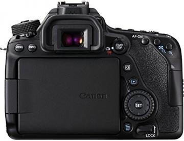 Canon EOS 80D SLR-Digitalkamera (24,2 Megapixel, 7,7 cm (3 Zoll) Display, DIGIC 6 Bildprozessor, NFC und WLAN, Full HD) Kit inkl. EF-S 18-55mm 1:3,5-5,6 IS STM, schwarz - 6