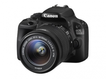 Canon EOS 100D SLR-Digitalkamera (18 Megapixel, 7,6 cm (3 Zoll) Touchscreen, Full HD, Live-View) Kit inkl. EF-S 18-55mm 1:3,5-5,6 IS STM - 1