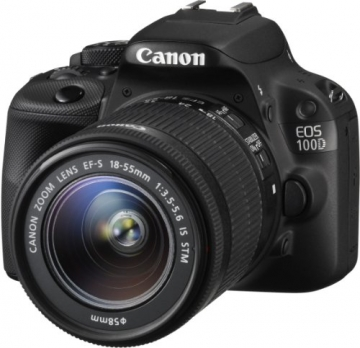 Canon EOS 100D SLR-Digitalkamera (18 Megapixel, 7,6 cm (3 Zoll) Touchscreen, Full HD, Live-View) Kit inkl. EF-S 18-55mm 1:3,5-5,6 IS STM - 2