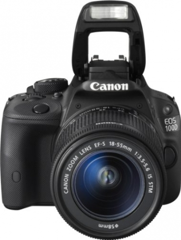 Canon EOS 100D SLR-Digitalkamera (18 Megapixel, 7,6 cm (3 Zoll) Touchscreen, Full HD, Live-View) Kit inkl. EF-S 18-55mm 1:3,5-5,6 IS STM - 3