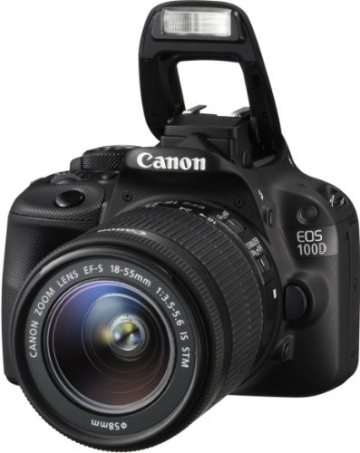Canon EOS 100D SLR-Digitalkamera (18 Megapixel, 7,6 cm (3 Zoll) Touchscreen, Full HD, Live-View) Kit inkl. EF-S 18-55mm 1:3,5-5,6 IS STM - 5