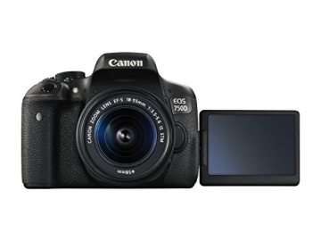 Canon EOS 750D SLR-Digitalkamera (24 Megapixel, APS-C CMOS-Sensor, WiFi, NFC, Full-HD) Kit inkl. EF-S 18-55 mm IS STM Objektiv schwarz - 3