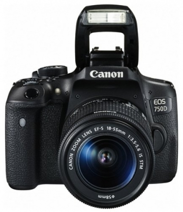 Canon EOS 750D SLR-Digitalkamera (24 Megapixel, APS-C CMOS-Sensor, WiFi, NFC, Full-HD) Kit inkl. EF-S 18-55 mm IS STM Objektiv schwarz - 4