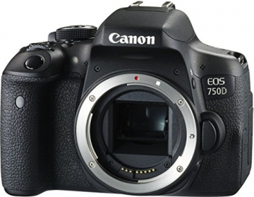 Canon EOS 750D SLR-Digitalkamera (24 Megapixel, APS-C CMOS-Sensor, WiFi, NFC, Full-HD) Kit inkl. EF-S 18-55 mm IS STM Objektiv schwarz - 8