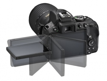 Nikon D5300 SLR-Digitalkamera (24,2 Megapixel, 8,1cm (3,2 Zoll) LCD-Display, Full HD, HDMI, WiFi, GPS, AF-System mit 39 Messfeldern) Kit inkl. AF-S DX 18-55 VR II Objektiv schwarz - 11