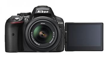 Nikon D5300 SLR-Digitalkamera (24,2 Megapixel, 8,1cm (3,2 Zoll) LCD-Display, Full HD, HDMI, WiFi, GPS, AF-System mit 39 Messfeldern) Kit inkl. AF-S DX 18-55 VR II Objektiv schwarz - 13