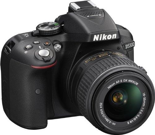 Nikon D5300 SLR-Digitalkamera (24,2 Megapixel, 8,1cm (3,2 Zoll) LCD-Display, Full HD, HDMI, WiFi, GPS, AF-System mit 39 Messfeldern) Kit inkl. AF-S DX 18-55 VR II Objektiv schwarz - 3