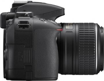 Nikon D5300 SLR-Digitalkamera (24,2 Megapixel, 8,1cm (3,2 Zoll) LCD-Display, Full HD, HDMI, WiFi, GPS, AF-System mit 39 Messfeldern) Kit inkl. AF-S DX 18-55 VR II Objektiv schwarz - 5