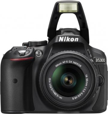 Nikon D5300 SLR-Digitalkamera (24,2 Megapixel, 8,1cm (3,2 Zoll) LCD-Display, Full HD, HDMI, WiFi, GPS, AF-System mit 39 Messfeldern) Kit inkl. AF-S DX 18-55 VR II Objektiv schwarz - 6